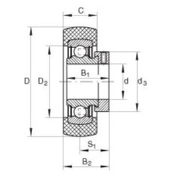 Radial insert ball bearings - RABRB25/62-XL-FA106