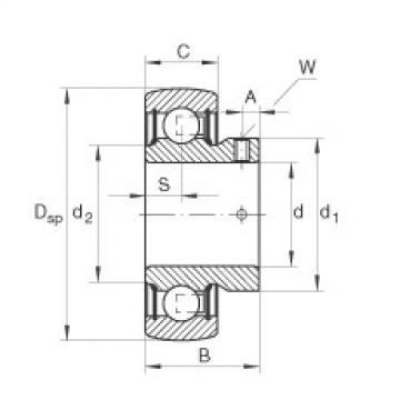 Radial insert ball bearings - AY17-XL-NPP-B
