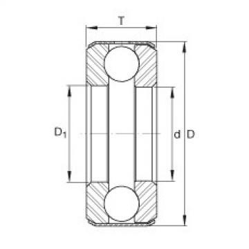 Axial deep groove ball bearings - D38