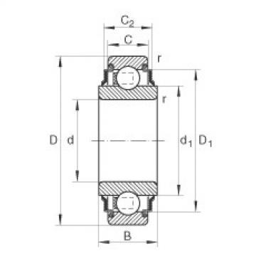 Radial insert ball bearings - 211-XL-KRR