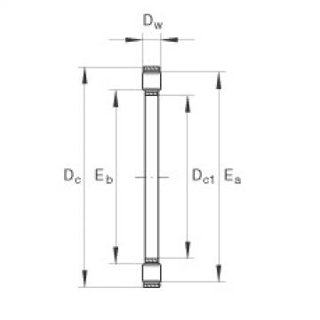 Axial cylindrical roller and cage assembly - K81206-TV