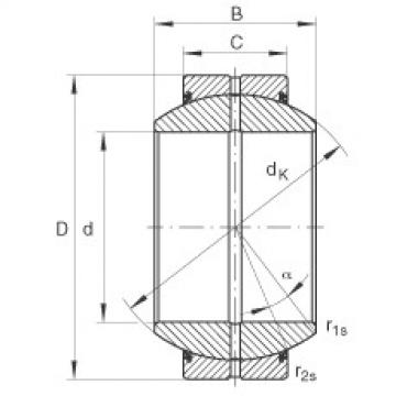 Radial spherical plain bearings - GE180-FO-2RS