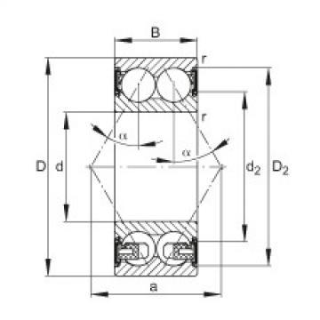 Angular contact ball bearings - 3203-BD-XL-2HRS-TVH