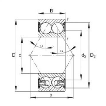 Angular contact ball bearings - 3304-BD-XL-2Z-TVH