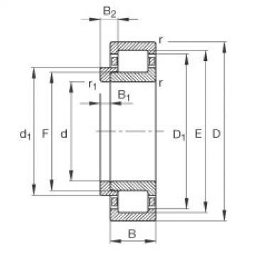 Cylindrical roller bearings - NJ210-E-XL-TVP2 + HJ210-E