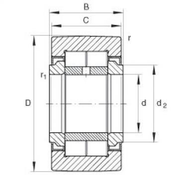 Yoke type track rollers - NUTR45100