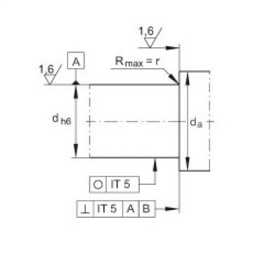 Angular contact ball bearing units - DKLFA2080-2RS
