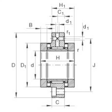 Needle roller/axial cylindrical roller bearings - ZARF50140-TV