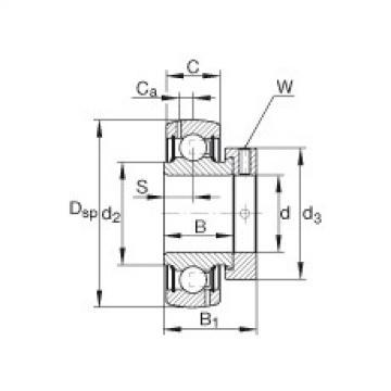 Radial insert ball bearings - GRA010-NPP-B-AS2/V