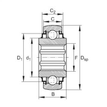 Self-aligning deep groove ball bearings - SK102-207-KRR-B-L402/70-AH11