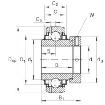 Radial insert ball bearings - GE65-214-XL-KRR-B-FA164