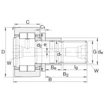Stud type track rollers - NUKRE40