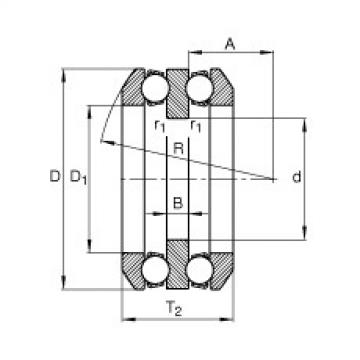 Axial deep groove ball bearings - 54322-MP + U322
