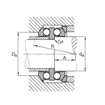 Axial deep groove ball bearings - 54244-MP