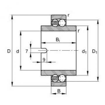 Self-aligning ball bearings - 11212-TVH