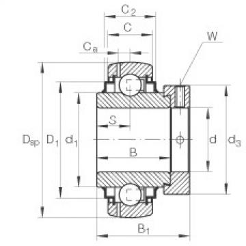 Radial insert ball bearings - E25-XL-KRR-B