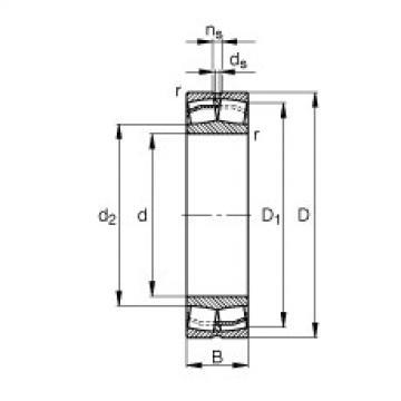 Spherical roller bearings - 22211-E1-XL
