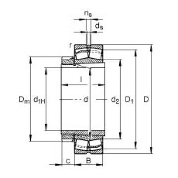 Spherical roller bearings - 22211-E1-XL-K + H311
