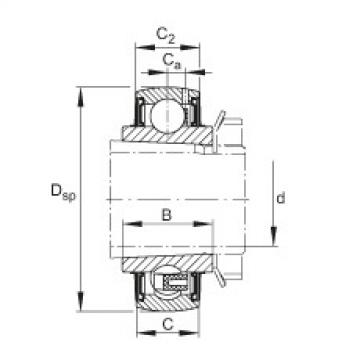 Radial insert ball bearings - UK205