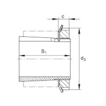 Radial insert ball bearings - UK206