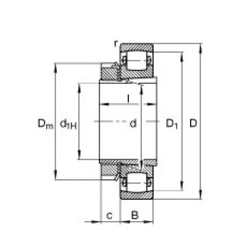 Barrel roller bearings - 20215-K-TVP-C3 + H215