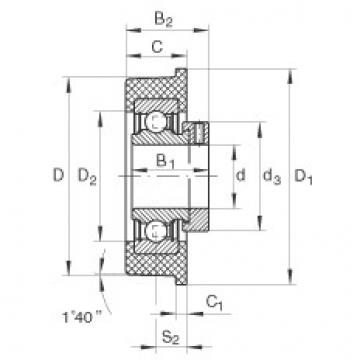 Radial insert ball bearings - CRB25/83-XL