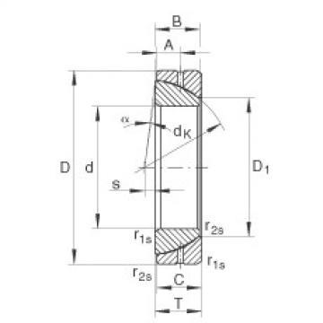 Angular contact spherical plain bearings - GE25-SX