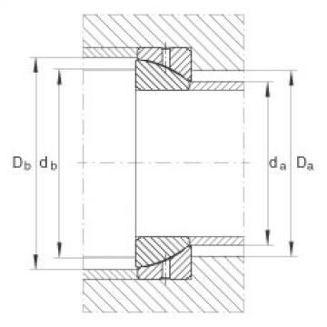 Angular contact spherical plain bearings - GE65-SX