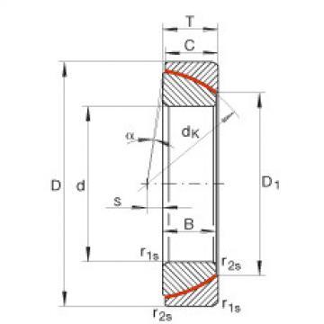 Angular contact spherical plain bearings - GE180-SW