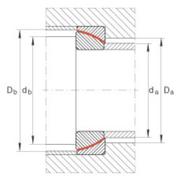 Angular contact spherical plain bearings - GE65-SW