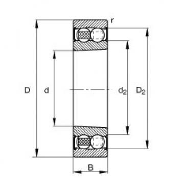 Self-aligning ball bearings - 2210-K-2RS-TVH-C3