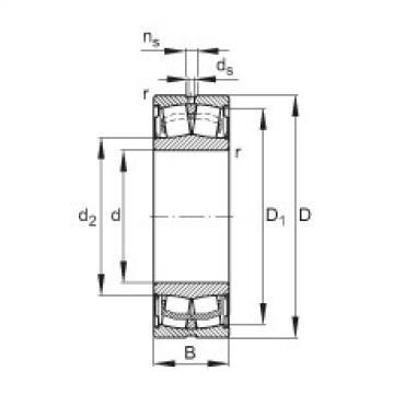 Sealed spherical roller bearings - WS22213-E1-XL-2RSR