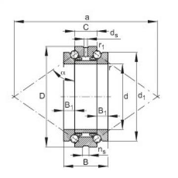 Axial angular contact ball bearings - 234438-M-SP