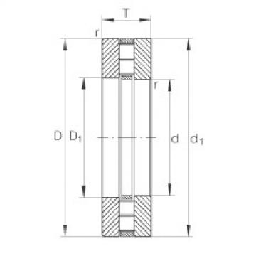 Axial cylindrical roller bearings - 89318-M