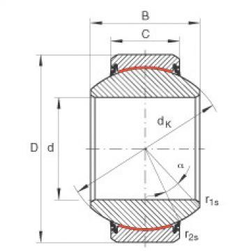 Radial spherical plain bearings - GE160-FW-2RS