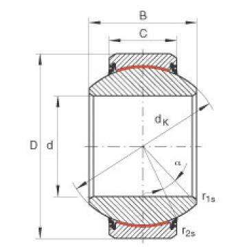 Radial spherical plain bearings - GE220-FW-2RS