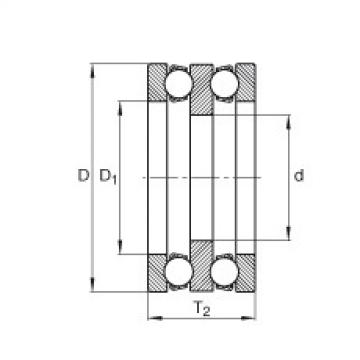 Axial deep groove ball bearings - 195X03