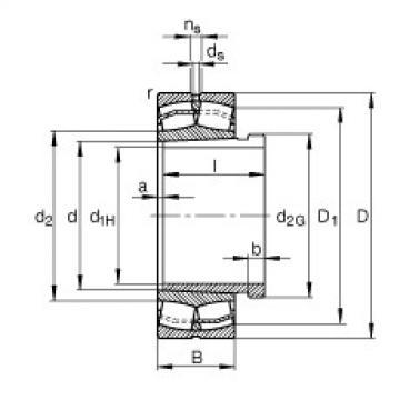 Spherical roller bearings - 23038-E1-XL-K-TVPB + AH3038G