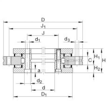 Axial/radial bearings - YRT180