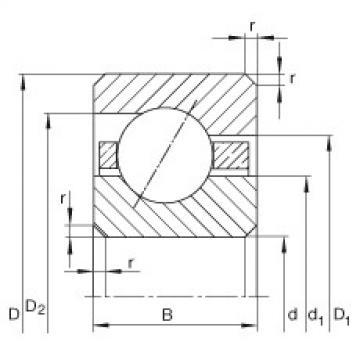 Thin section bearings - CSEF090