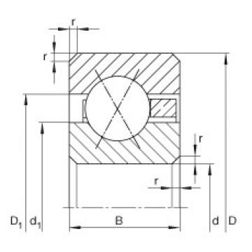 Thin section bearings - CSXF080