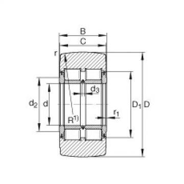 Yoke type track rollers - NNTR55X140X70-2ZL