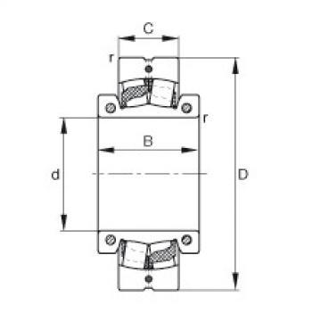 Spherical roller bearings - 222SM75-TVPA