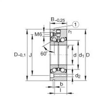 Axial angular contact ball bearings - ZKLF100200-2Z-XL