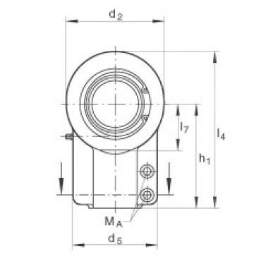 Hydraulic rod ends - GIHNRK63-LO