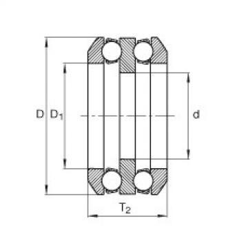 Axial deep groove ball bearings - 85X04