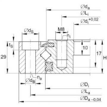 Crossed roller bearings - XU080120