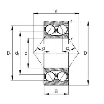 Angular contact ball bearings - 3219-M