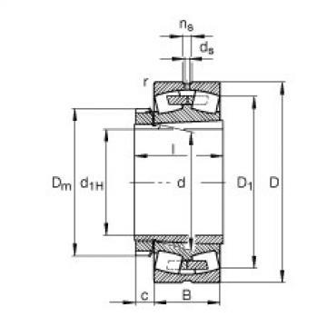 Spherical roller bearings - 23136-E1A-XL-K-M + H3136