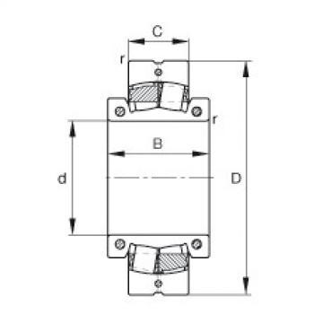 Spherical roller bearings - 222SM180-MA